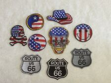 USA American Motorcycle Biker Patches / Badges - Embroidered - Sew On Breast