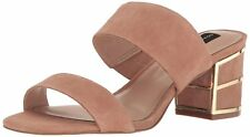 STEVEN by Steve Madden Womens siggy Suede Open Toe Casual Mule Sandals