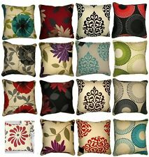 "Polycotton Printed Floral Half Panama Rotary Design 18""x18"" Cushion Covers"