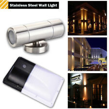 GU10 Stainless Steel Up Down Wall Light / Dusk-To-Dawn Photocell Waterproof Lamp