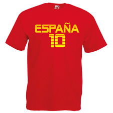 SPAIN Espana Football T-Shirt World Cup 2018 PERSONALISED NUMBER Mens & Kids