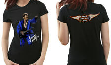 JOHNNY HALLYDAY T-SHIRT FEMME IMAGE RECTO ET VERSO FAN HOMMAGE MAILLOT WOMEN