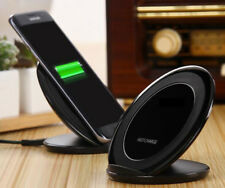 Qi WIRELESS FAST CHARGER PAD Supporto Dock per Galaxy S6 S7 EDGE S8 S8+