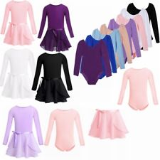 Kids Girls Gymnastics Ballerina Leotard Tutu Skirt  Ballet Dance Dress Costume