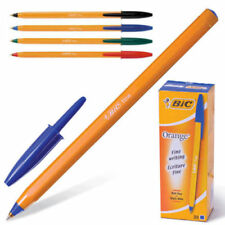 5 x BIC ORANGE BALL PEN FINE BLACK / BLUE / RED / Green  FINE POINT