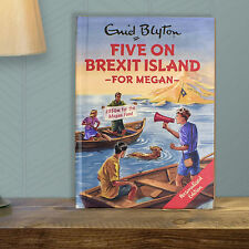 Personalised Enid Blyton FAMOUS FIVE for Grown Ups FIVE On BREXIT ISLAND