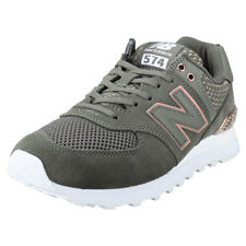 New Balance Wl574 All Day Rose Womens Olive Suede & Mesh Trainers