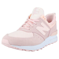 New Balance Wl574 Sport Womens Pink Peach Suede & Textile Trainers