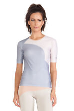 adidas Womens Stella McCartney Tight Studio 1/2 Sleeve Gym Top Fitted T-Shirt