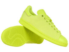 Men's adidas Originals Stan Smith Unisex Sports Trainers Yellow Lime Low Shoes
