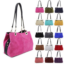 Womens Fashion Real Suede Italy Leather Handbag Tote Hobo Shopper Shoulder Bag