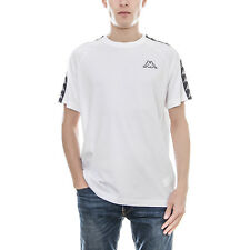 Kappa T-Shirt 222 Banda Coen Slim White-Black Bianco