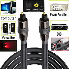 Pure TOSLink Optical Digital Audio SPDIF Stero Cable Lead TV Box Blue Ray DVD UK