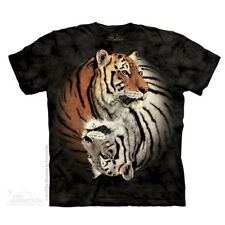 The Mountain Yin Yang Tigers T-Shirt Chinesische Tiger Hell und Dunkle Neu