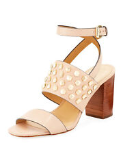 MICHAEL Michael Kors Womens Valencia Leather Open Toe Casual Ankle Strap Sand...