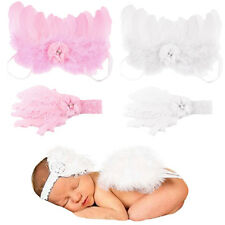 Newborn Baby Headband With Cute Angel Wings Baby Clothing Prop Photo Outfit