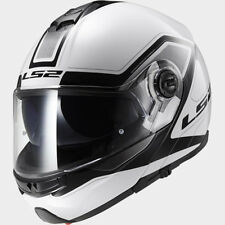 LS2 CASCO URBAN COMMUTER STROBE FF325 CIVIK WHITE BLACK MODULARE