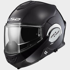 LS2 CASCO URBAN COMMUTER VALIANT FF399 SOLID BLACK MODULAR