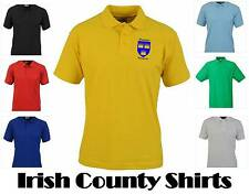 Ireland Munster Province & County Crest Unisex Polo Shirts, can be personalised