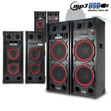 """CHOICE Pair Active Powered USB Karaoke Party Speakers Dual 6.5""""-10"""" 600W-1200W"""