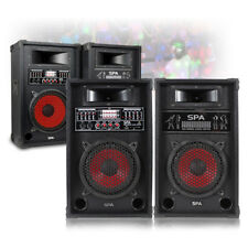 """CHOICE Pair Active Powered USB SD Home Party Karaoke Speakers 8"""" 10"""" 600W-800W"""