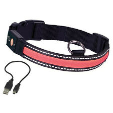 NOBBY cani LED Collare FLASH Maglia Rosso, varie misure, NUOVO