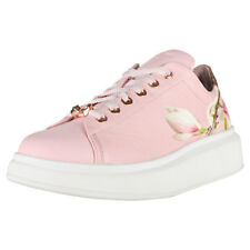 Ted Baker Ailbe Womens Pink Floral Leather Trainers
