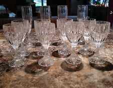 PARK LANE by MIKASA Contemporary Lead Crystal Stemware Champagne Flutes & Wine
