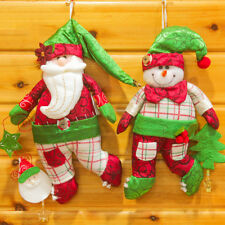 LX_ NE_ BA_ CHRISTMAS HANGING ORNAMENT SANTA CLAUS SNOWMAN SOFT KIDS TOY XMAS
