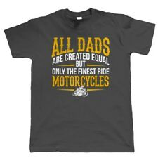 Finest Dads Ride Motorcycles Mens Biker T Shirt - Fathers Day Birthday Gift Dad
