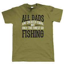 Finest Dads Go Fishing, Mens T Shirt - Fathers Day Birthday Carp Gift Dad Xmas