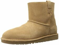 Ugg Australia Classic Unlined Mini Perforated, Botas de Moda Mujeres, Punta Cerr