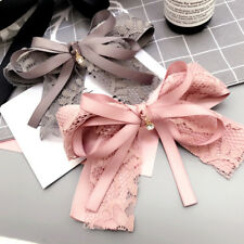 LX_ SWEET LACE FLOWER BOWKNOT HAIRPIN HAIR CLIP ACCESSORIES WOMEN BARRETTE ALL