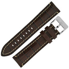 Di-Modell BALI CHRONO Alligator Embossed Padded calf leather Watch Strap  BROWN