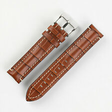 Di-Modell BALI CHRONO Alligator Embossed Calf leather Watch Strap in GOLD BROWN