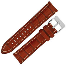Di-Modell BALI CHRONO Alligator-Embossed Calf Leather Watch Strap in GOLD BROWN
