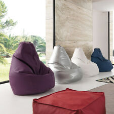 Pouf sacco Molly con rivestimento sfoderabile in ecopelle high quality