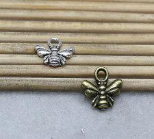 50/200pcs 11x10mm Antique Silver delicate Lovely Little bee Charms Pendant