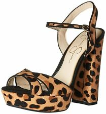 Jessica Simpson Womens Naidine2 Leather Open Toe Casual Platform Sandals