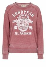 Goodyear Damen Sweater Jolley Sport Fitness Red White Frontdruck XS S M L XL NEU