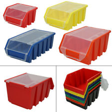 Sight Storage Bins with Lid Stack Boxes Sorting Box Open