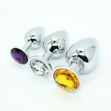 Butt Toy Anal Insert Plug Stainless Steel Metal Jewelry Adult Game Trainer