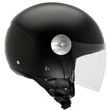 CASCO HELMET MOTO SCOOTER DEMI JET GIVI 10.7MINI VISERA LARGO NEGRO MATE