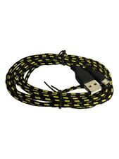 Braided USB Micro black Cable Sync Charger Data Lead For Android Mobile Phone UK