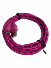 Braided Micro USB DATA Transfer Mobile Smart phones Charger Lead Cable Dark Pink