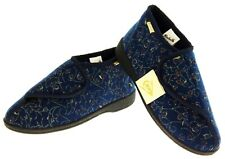 Womens Ladies DUNLOP Navy Blue Orthopaedic Boots Slippers Size 3 4 5 6 7