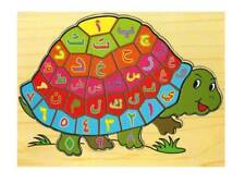 Arabic Words Turtle Wooden Puzzle Educational Board Muslim Islamic Kids