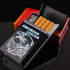 Black Dual Arc USB Electric Rechargeable Flameless Lighter Cigar Cigarette Box