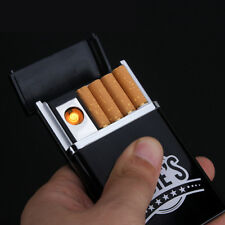 Black Dual Arc USB Electric Rechargeable Flameless Lighter Cigar Cigarette Box#