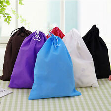 6Color Portable Shoes Bag Travel Storage Pouch Drawstring Dust Bags Non-woven